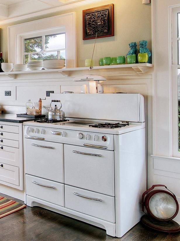 DIY Network has ideas for incorporating old items into new kitchens.