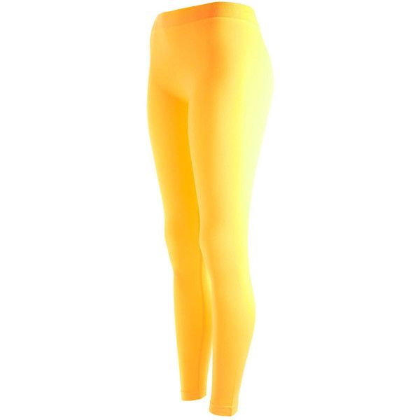 Lookin Fine Ladies Leggings in Many Colors ❤ liked on Polyvore featuring pants, leggings, thin leggings, neon pink pants, yellow leggings, legging pants and neon pants