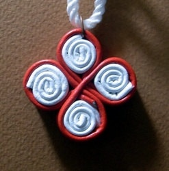 Egyptian style coptic leather cross pendant