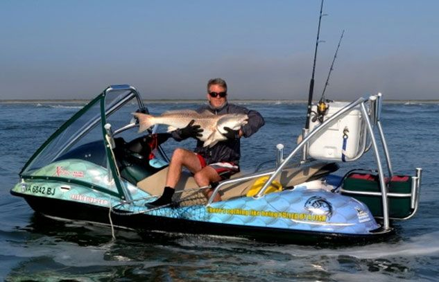 How to outfit your pwc for fishing for those interested for Fishing jet ski