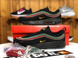 ca9929e2c061 Nike Air Max 97 1 Sean Wotherspoon Black Green Red AJ4219 036 Sneaker  Women s Men s Running Shoes