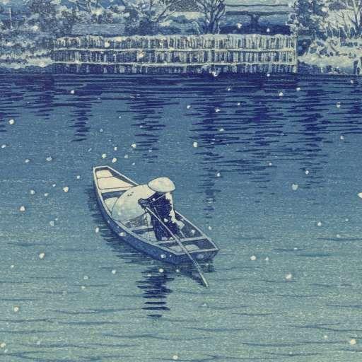 Ushibori, Kawase Hasui, Watanabe Shôzaburô, 1930 - Muurbehang-Verzameld werk van Florentine Six - Alle Rijksstudio's - Rijksstudio - Rijksmuseum
