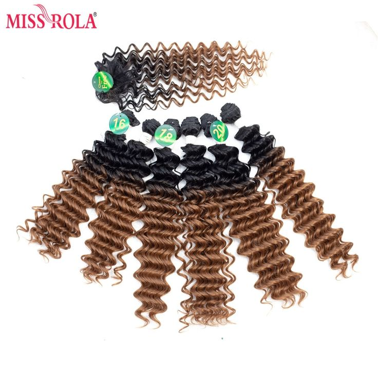 Miss Rola Ombre Synthetic Hair Extensions Deep Wav…