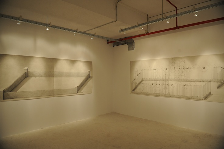 """Paul Noble Installation view, 2nd Athens Biennale 2009 """"Heaven"""""""