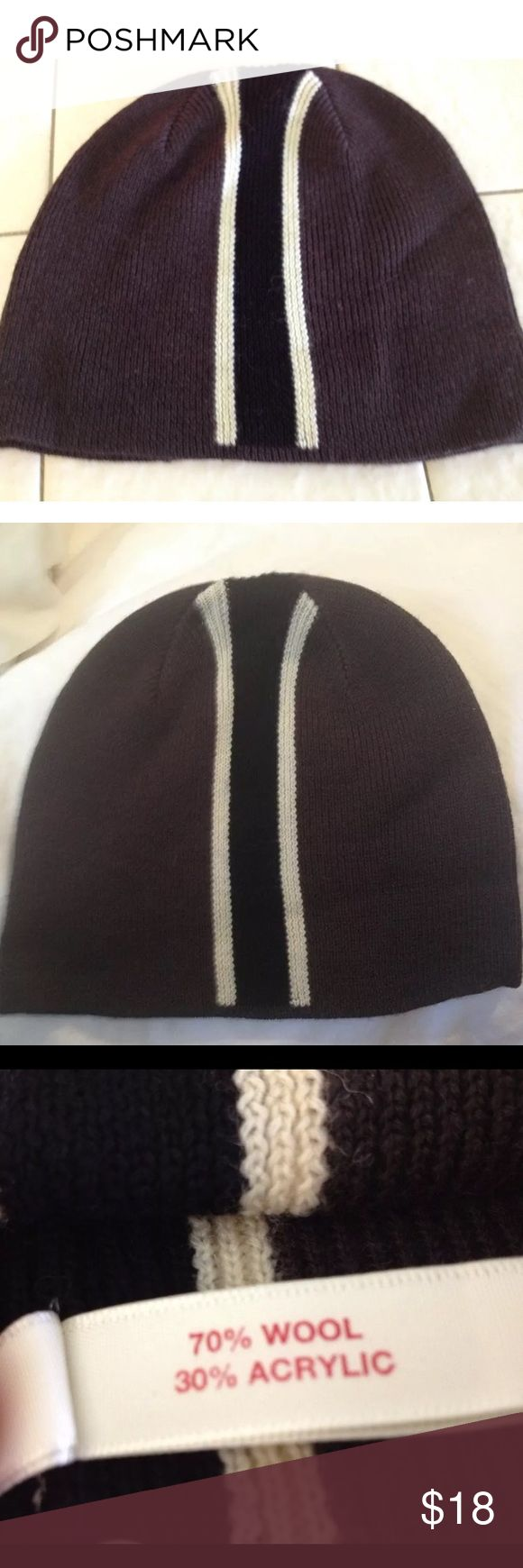 70% WOOL Winter Ski/Snowboarding Hat BRAND NEW UNISEX 1 SIZE FITS MOST BRAND SKI SNOWBOARD BEANIE HAT is the bomb!  WARM & FUNCTIONAL & from a respected, well-known brand! Understated tight knit design in choc brown w/ chic ivory & black stripes. Wool & acrylic blend THIS hat not only KEEPS YOU WARM & TOASTY, it makes this beanie comfortable all day!   Red Envelope is a highly respected boutique brand RECOGNIZED 4 SUPERIOR QUALITY & unique well-made accessories. Warm/Iconic, Gorgeous & Luxe…
