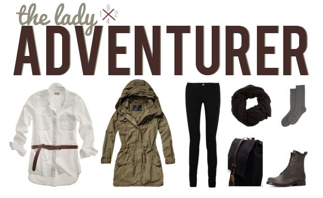 A lady adventurerLady Adventure, Accessories Stuff, Travel Fashion, Hiking Clothing, Stuff Travel, Adventure Clothing, Travel Outfit, Adventure Outfit, Travel Clothing