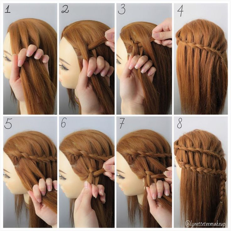 """""""Dutch three strand ladder braids,  check out the step as below:  1.Split hair into 3 section 2.Cross left section to the middle section & cross the right…"""""""