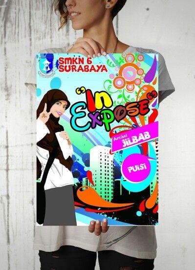 Layout  cover magazine SMKN 6 Surabaya