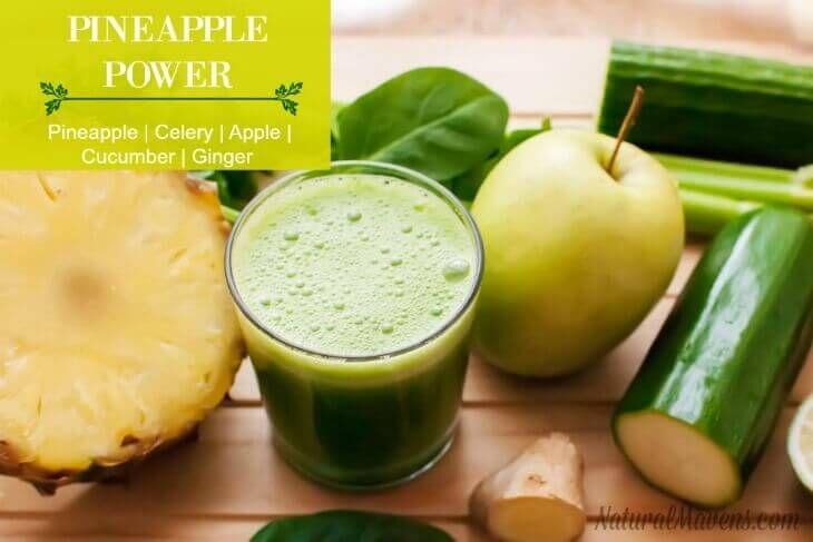 Pineapple Power Juice - Pineapple, celery, apple, cucumber, ginger. An anti-inflammatory power house juice.