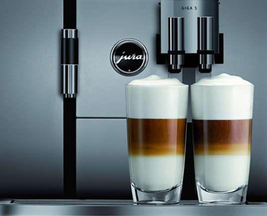 The Jura Giga 5 Cappuccino Maker Creates Two Brews Simultaneously trendhunter.com