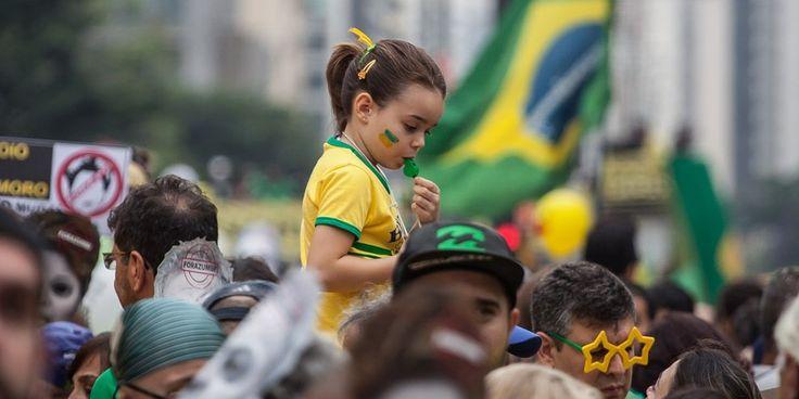 manifestação na avenida Paulista, no dia 13 de março. (Foto: Ricardo Nogueira/ Epoca)