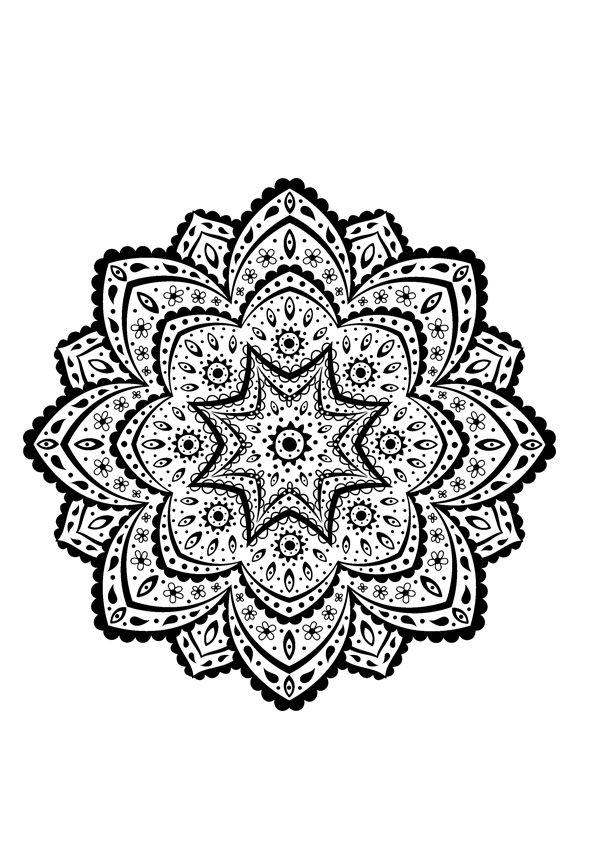 17 best images about coloriage pour adulte on pinterest - Mandala pour adultes ...