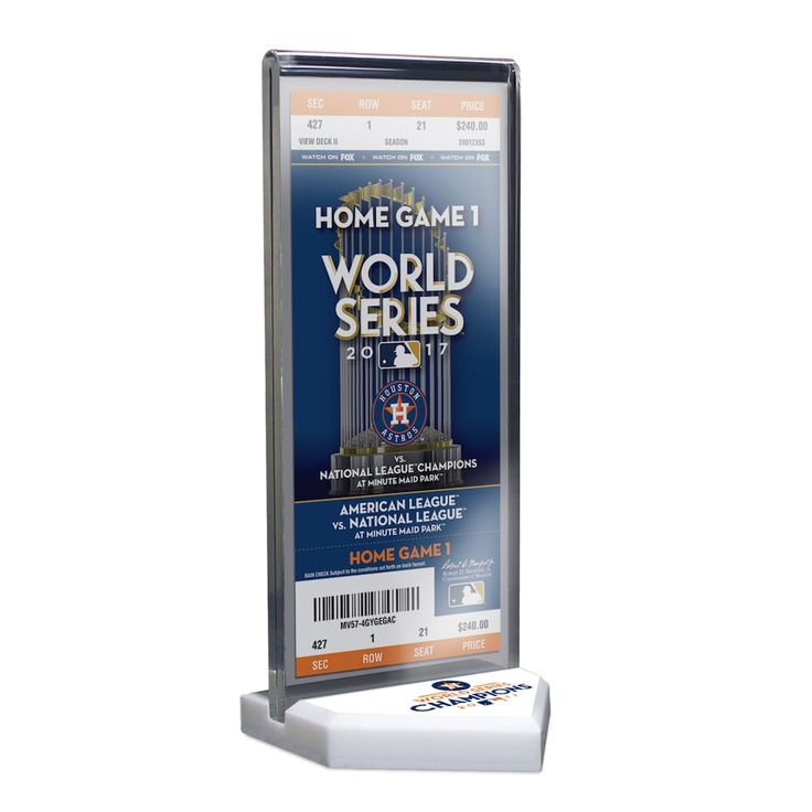 Houston Astros 2017 World Series Champions Commemorative Ticket Display Stand, Team