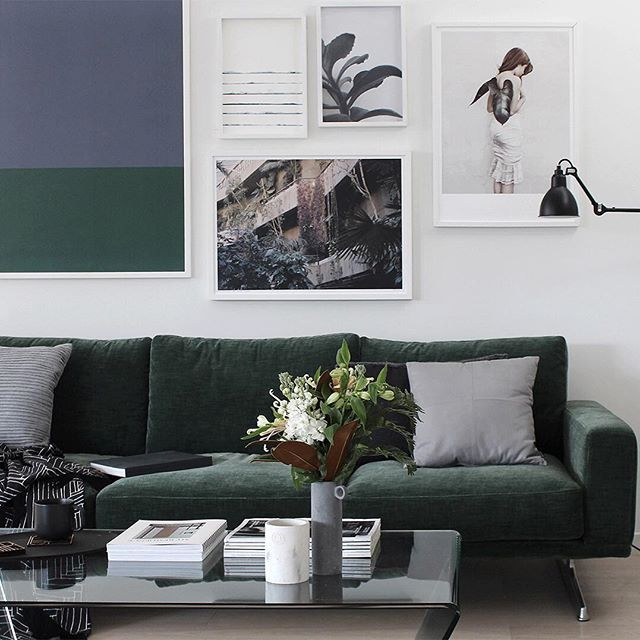A Close Up Of The Gorgeous Forest Green Carlton Sofa I Styled For ♡ The New  Napoli Woven Fabric Is Soft Yet Textural With A Vintage Feel, Perfectly  Matched ...