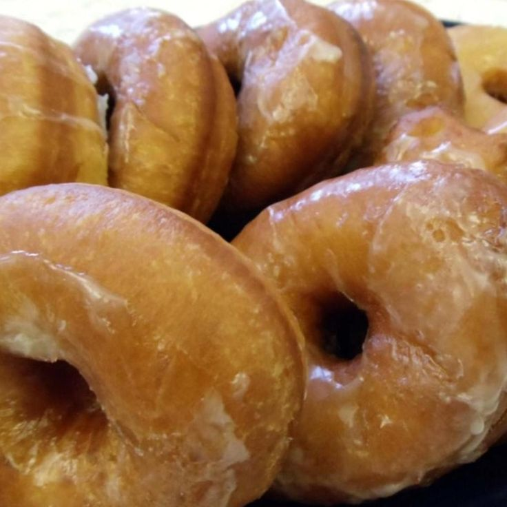 """MOM'S RAISED DOUGHNUTS """"My goodness, these are so delicious HOT from the oil... or anytime, really!"""" Delicious old fashioned doughnuts!"""