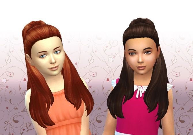Ariana Hair for Girls at My Stuff via Sims 4 Updates