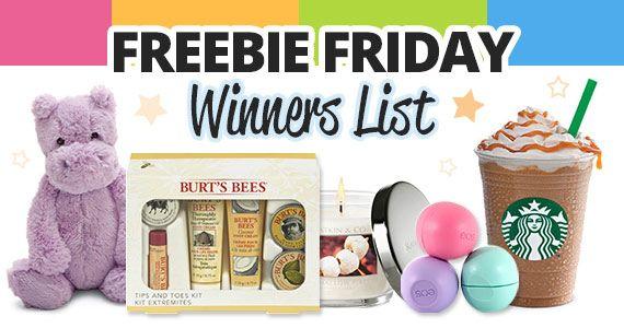 The Freebie Friday Winners List