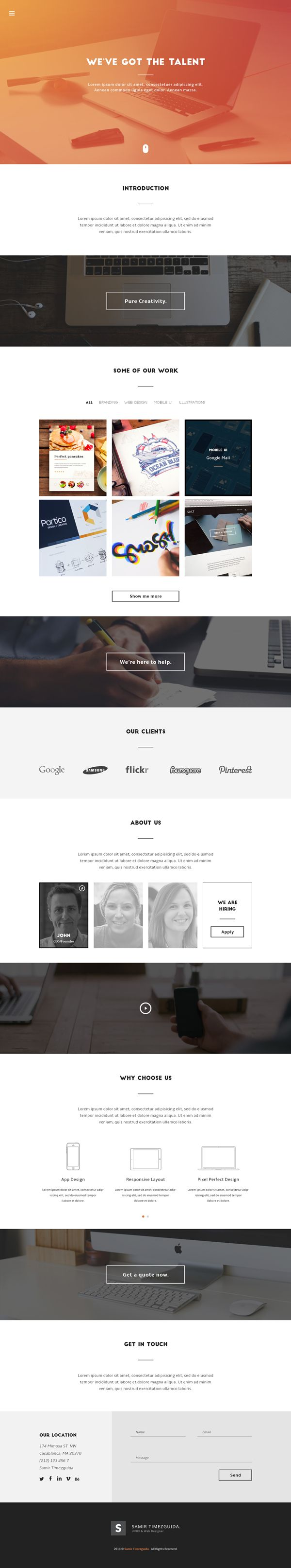 Today's special is Casablanca, a minimalist yet beautiful landing page that can be used freely, for personal...