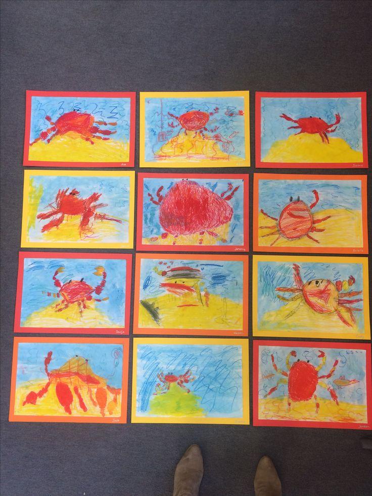 K/1 mixed media crabs