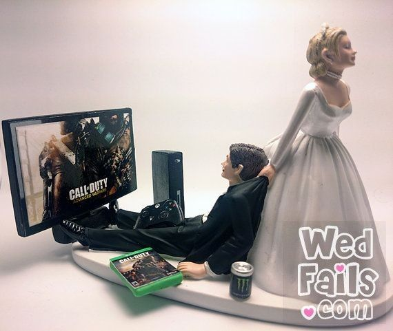 Call Of Duty Funny Wedding Cake Topper Bride And Groom Would Been Perfect If It Was Instead Box