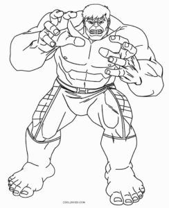 Free Printable Hulk Coloring Pages For Kids | Cool2bKids | Coloring ...