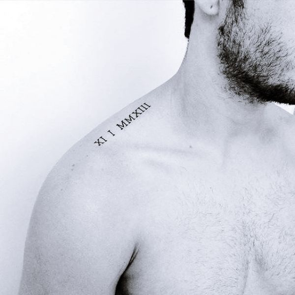 Small Meaningful Mens Shoulder Tattoos