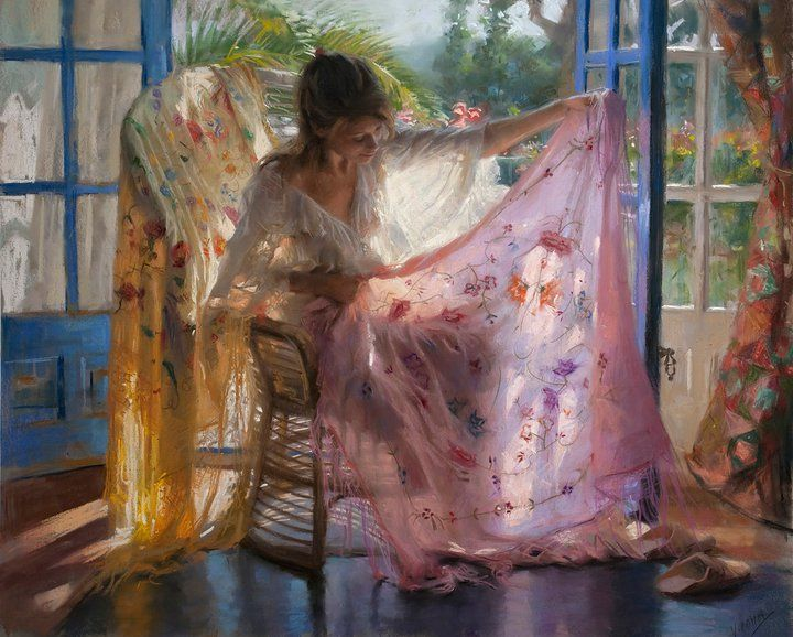 Vicente Romero Redondo, Shared Dreams. I love the light he was able to achieve in this pastel!