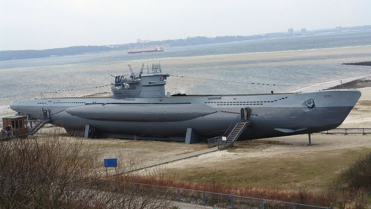 U-995. Type VIIC submarine. Now a museum at Laboe, Germany ...