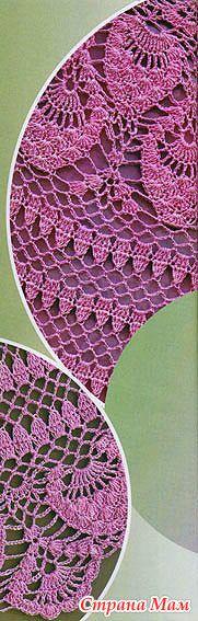 Розовый костюм — вяжем крючком ананасовым узором - ВЯЗАНАЯ МОДА+ ДЛЯ НЕМОДЕЛЬНЫХ ДАМ - Страна Мам