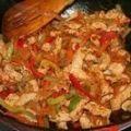 Как приготовить филе индейки с рисовой лапшой, овощами и соусом терияки - рецепт, ингридиенты и фотографии