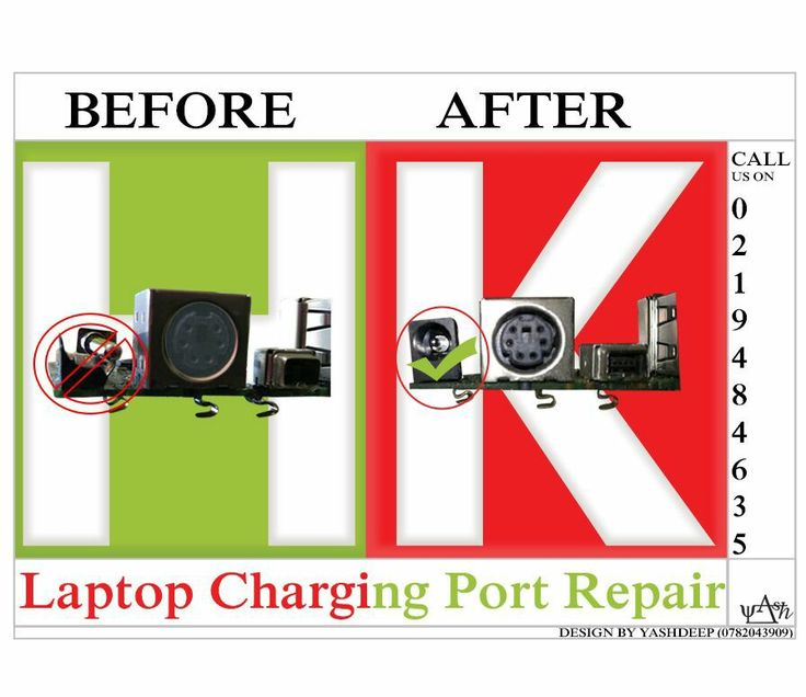 Laptop charging port repairs