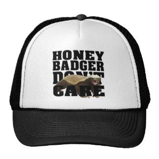 honey badger don't care mesh hats