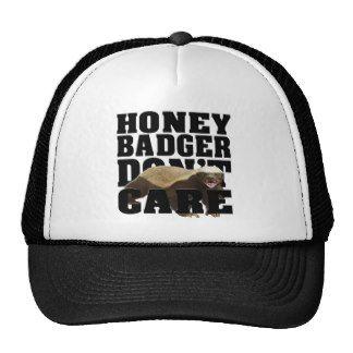honey badger don't care mesh hats