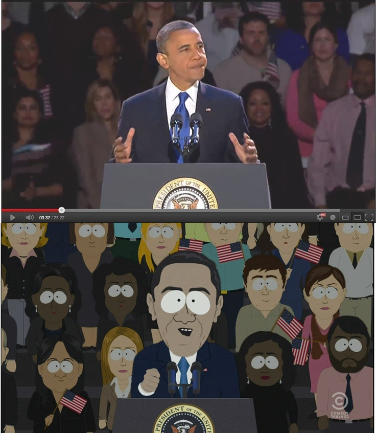 South Park nails Obama's victory speech (even the crowd)