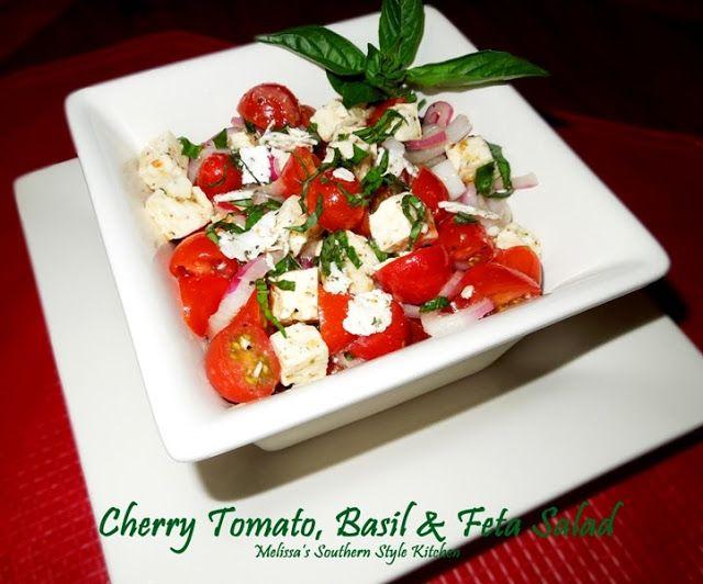 Melissa's Southern Style Kitchen: Cherry Tomato, Basil  Feta Salad