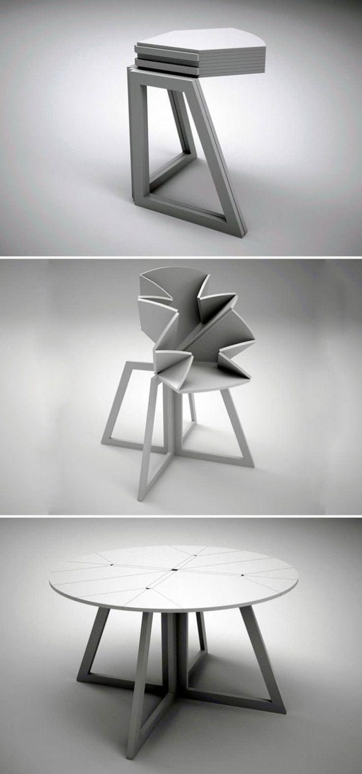 30 tavoli allungabili moderni dal design particolare for Tavoli rotondi moderni allungabili