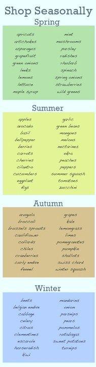 Shop seasonal foods