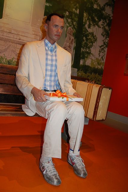 Forrest Gump - Madame Tussauds Wax museum, Hollywood      I want to get my picture taken by this :)