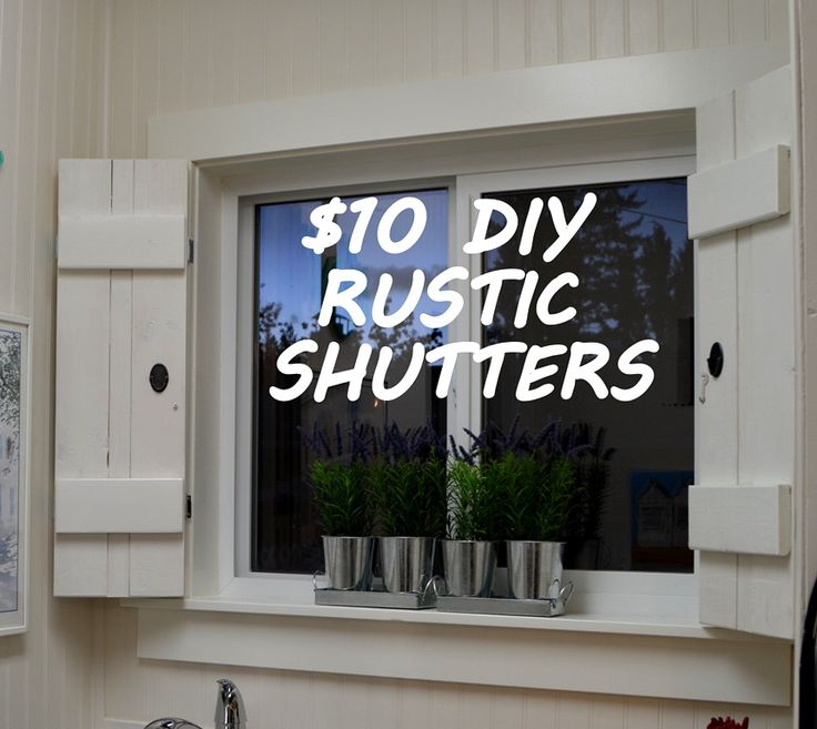 Create Your Own Beautiful Window Treatment With This DIY Rustic Shutters Tutorial