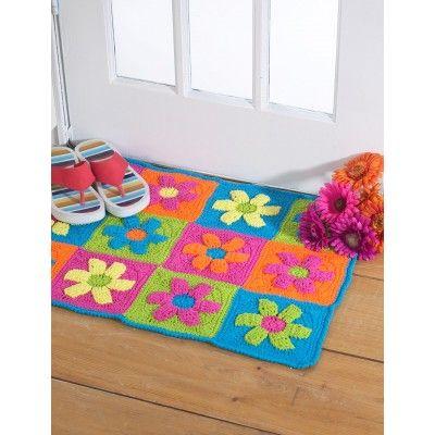 Flower Power Rug - free download patterns | Yarnspirations
