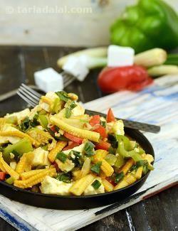 Corn Capsicum Paneer Subzi recipe   by Tarla Dalal   Tarladalal.com   #40491