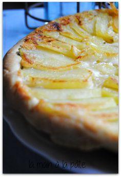 tarte tatin aux pommes de terre et au Comté