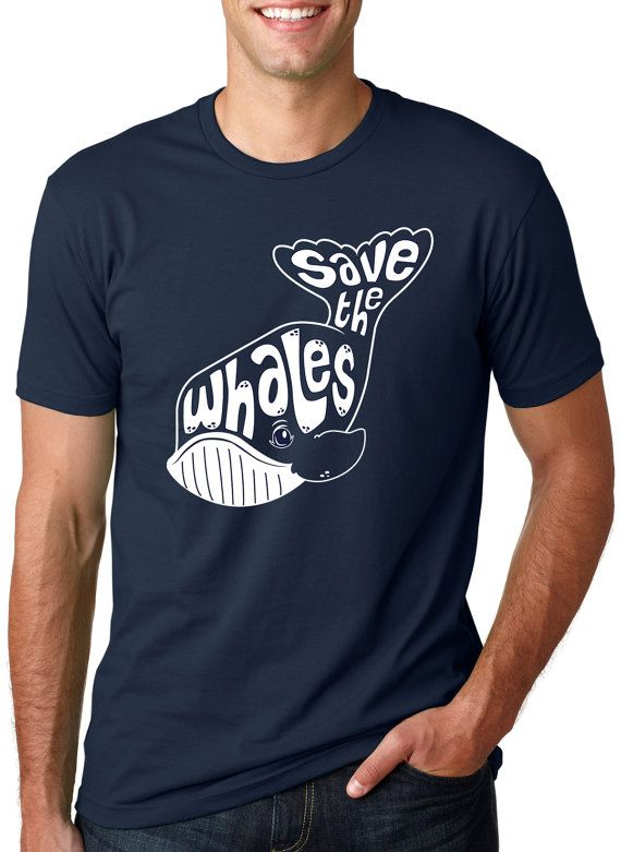 Whale Tail t shirt funny save the whales S4XL by CrazyDogTshirts, $15.99