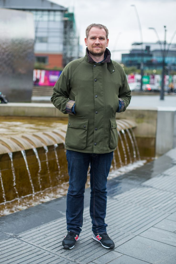 Simon was spotted wearing his Barbour Jacket outside Sheffield train station – it was a recent purchase he made from our outlet store in Cheshire Oaks.