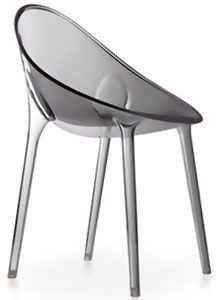 Kartell Mr Impossible Chair Transparent Grey By Philippe