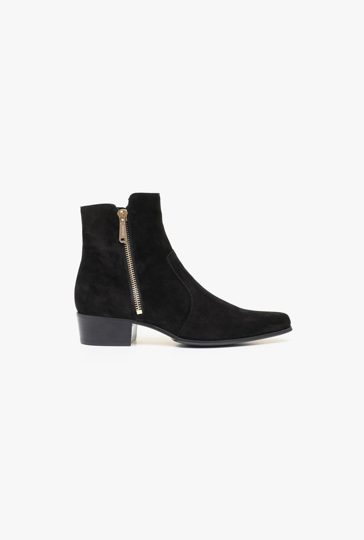 Anthos suede ankle boots | Mens shoes | Balmain