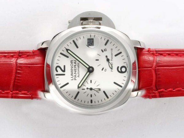 Replica Watches Store authentic USA Panerai Luminor White Dial-Red Leather Strap Lady Model Watch prices Korea Sophisticated copy [Panerai2325] - authentic USA Panerai Luminor White Dial-Red Leather Strap Lady Model Watch prices Korea Sophisticated copy