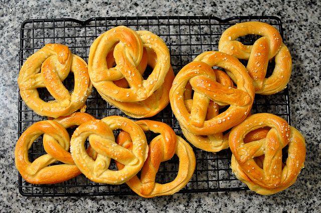 Homemade Soft Pretzels by Cathy Chaplin   GastronomyBlog.com, via Flickr
