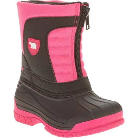 Faded Glory Tdlr Girls Arctic Shield Pac Boot, Size: 10, Black