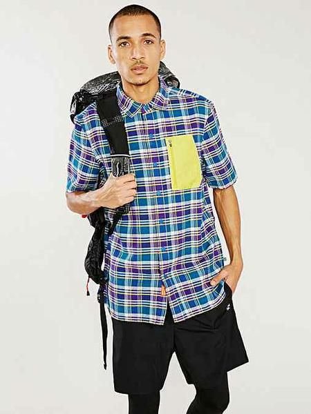 Honey | Without Walls Pocketed Short-Sleeve Flannel Shirt 48% off at urbanoutfitters - no coupon needed!